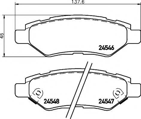PAGID T1714 Комплект тормозных колодок, дисковый тормоз