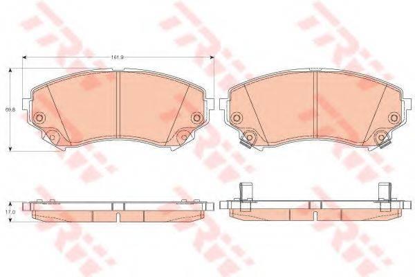 TRW GDB4456 Комплект тормозных колодок, дисковый тормоз