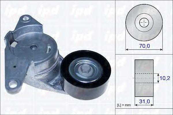 IPD 153842 Натяжная планка, поликлиновой ремень