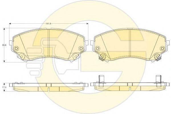 GIRLING 6144566 Комплект тормозных колодок, дисковый тормоз