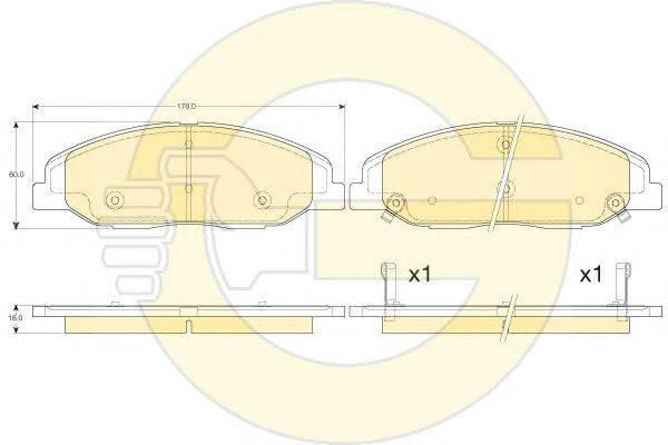 GIRLING 6144576 Комплект тормозных колодок, дисковый тормоз
