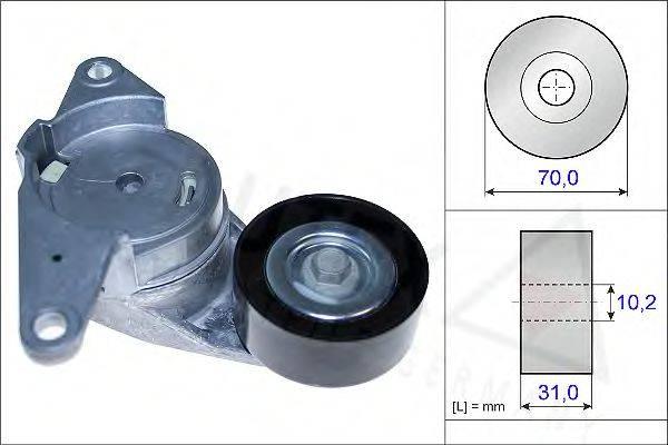 AUTEX 654847 Натяжная планка, поликлиновой ремень