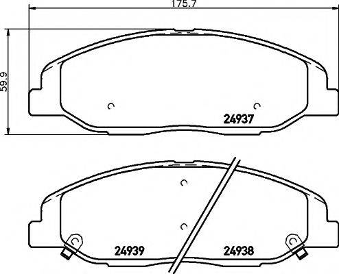 HELLA PAGID 8DB355015151 Комплект тормозных колодок, дисковый тормоз
